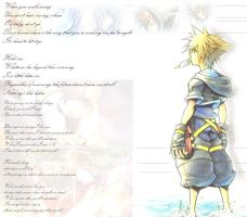 Kingdom Hearts Wall by ninmaster101