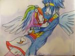 Rainbow Dash and Soarin by PinkShooter-chan
