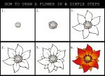 How To Draw A Flower Guide 2 by DarylHobsonArtwork