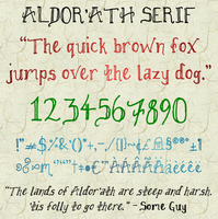 Aldor'ath Serif Font by TheGeef