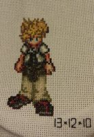 X-Stitch: KH - Roxas by thirteendaze