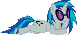 Vinyl Scratch Chillin' by BlackGryph0n