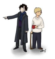 Sherlock and John by teamkenshin