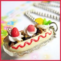 Banana Split Necklace 2 by cherryboop
