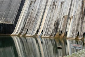 Foot of Norris Dam by CrystalMarineGallery