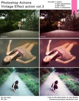 Photoshop Actions: Vintage Effect Action vol.3 by Heavensinyoureyes