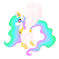 Princess Celestia by HowlsInTheDistance