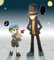 Layton and Luke:Teddy bear? by RokusukeTanaka