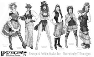 Steampunk Fashion Studies Two by FranBeau