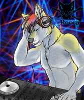 Midwest FurFest poster: DJ Recca by doofus