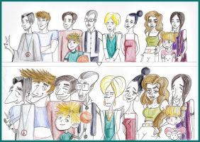 Family Caricatures by Marianthi8