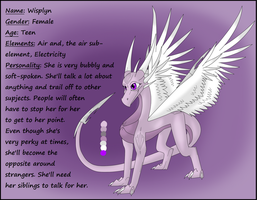 Wisplyn, Daughter of Spyro and Cynder by SlyNoodles