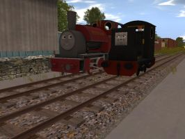No. 4 and No. 5 of the Skarloey Railway by Nictrain123