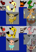 Pokemon write,trade,or draw to adopt by NeVerDark1211