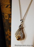 Golden Snitch Necklace v2.0 by kittykat01