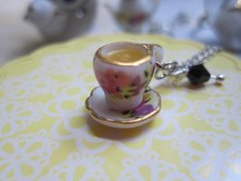 Little Tea cup Necklace by CandyChick