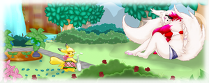 .:PKMN-Crossing Collab: The Garden:. by Volmise