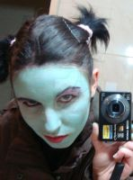 1st Maleficent make up test by MandyWolf