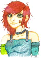 Red Hair and green Eyes by JadeTheAngle777