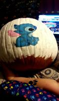 My Stitch and Toothless pumpkin WIP by Fallonkyra