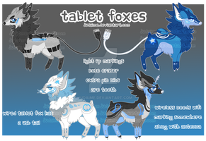 Tablet Foxes|Blue Accents| AUCTION | CLOSED by Judaime