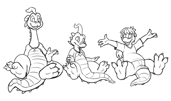 Dragon Dudes Discussing Diverting Discoveries by c0nker