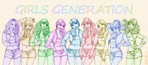 Girls Generation Lines by EddieHolly