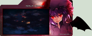 Remilia Scarlet GIF sig by Xranberry