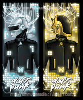 Wired Rave (Daft Punk Bookmark) by UmmuVonNadia
