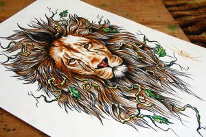 lion by NikaSamarina