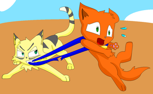 Longtail vs rusty by thelongdreamer
