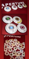 Portal 2 Personality Core Pins by reaperfox