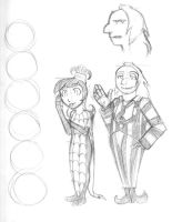 Lydia and Beej height sheets by darklightartist