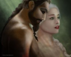 Game Of Thrones: Drogo and Daenerys by sassyangel