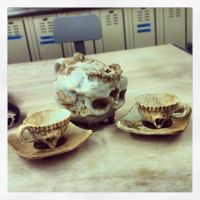 Skull tea set by FreakZone13