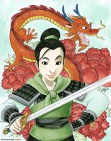 Mulan Colored by aimeekitty