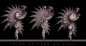 Three of them go East by viikas-fractals