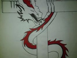 Dragon and Cross by JohnnySuede