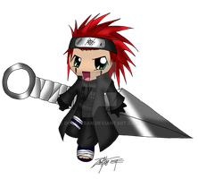 Chibi Ninja Axel by Doggy-san