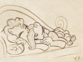 Pinkie and Rarity sketch by KP-ShadowSquirrel