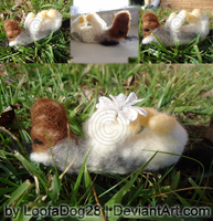 Needle-Felted Indy for Fox by LoofaDog28