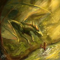 Forest Dragon by Lumaris