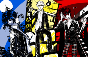 Persona 3 4 5 squad by Tofucakes
