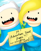 Adventure Time Finn and Fionna by athenanoza