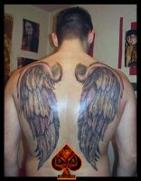 Wings tattoo by DarkArtsColective