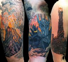Lord of the Rings upper sleeve by greyfoxdie85