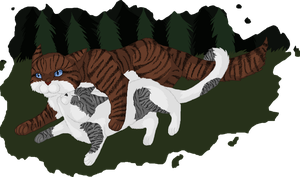Hawkfrost and Ivypool by Nightshine156
