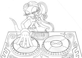 Commission: DJ Elly!! by SupaSilver