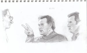 Sketch: Egon, Peter and Ray by VultureEye
