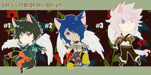 AUG 2014 CHIBI ADOPTABLE SET [CLOSED] by kura-ou